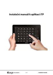 Instalační manuál k aplikaci iTP - ELKO EP, sro