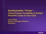 Synopsys PowerPC for developerWorks - IBM