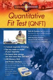 • 3 minute respirator fit testing • Test any make or ... - Safe Air Systems