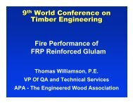 LVL reinforced glulam - APA - The Engineered Wood Association