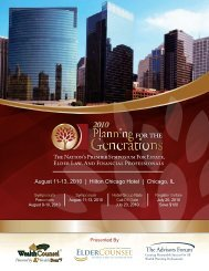 August 11-13, 2010 | Hilton Chicago Hotel ... - WealthCounsel