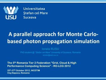 A parallel approach for Monte Carlo- based photon ... - ITIM