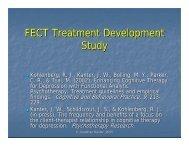 FECT Treatment Development Study - Functional Analytic ...