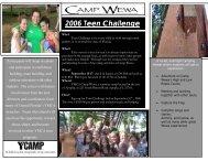 2006 Teen Challenge - YMCA Camp Wewa