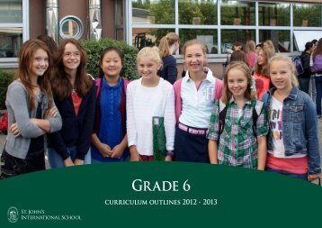 Curriculum outlines for grade 6 - St. John's International School