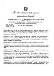 Decreto 20099 - Sistema d'informazione nazionale sull'agricoltura ...