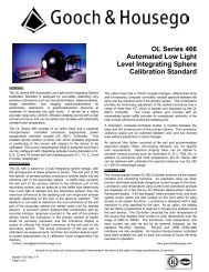 OL Series 466 Automated Low Light Level Integrating Sphere ...