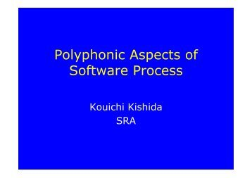 Polyphonic Aspects of Software Process: Looking for Philosophical ...