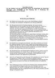 1 Geschäftsordnung für den Stadtrat und die Ausschüsse (sowie die ...