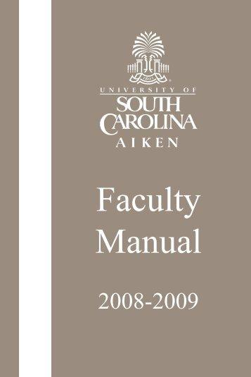 Faculty Handbook - The University of South Carolina Aiken