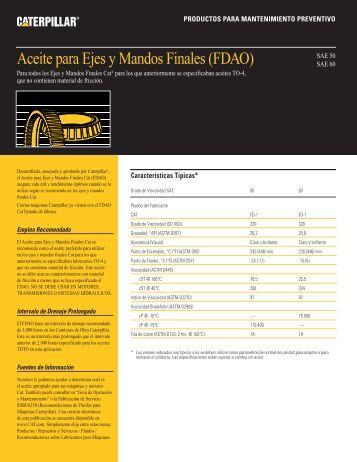 Aceite para Ejes y Mandos Finales (FDAO) - Venequip