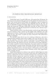 UN PORTALE PER L'ARCHEOLOGIA MEDIEVALE Negli ultimi anni ...