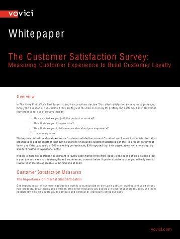 The Customer Satisfaction Survey - Dr Ian Brooks