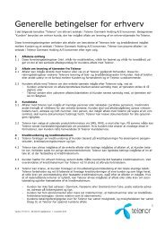 Generelle betingelser for erhverv - Telenor