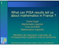 What can the PISA results tell us about mathematics in France