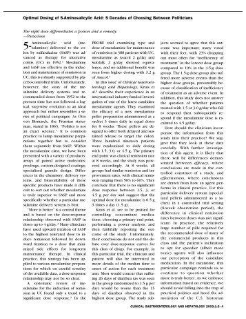 Optimal Dosing of 5-Aminosalicylic Acid: 5 Decades of Choosing ...