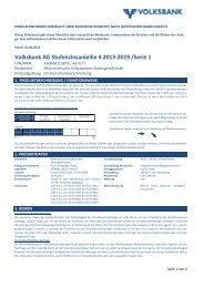 Produktinformationsblatt - Volksbank AG