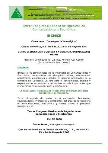 Segundo Congreso Mexicano de Ingeniería en Comunicaciones y ...