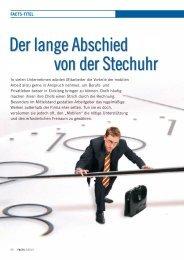 Der lange Abschied von der Stechuhr - FACTS Verlag GmbH