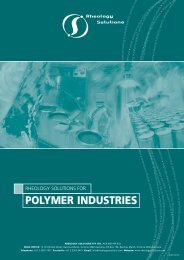 POLYMER INDUSTRIES - Rheology Solutions