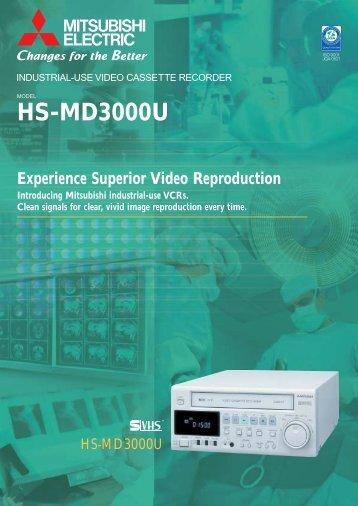 Mitsubishi HS-MD3000E 3 hour S-VHS recorder datasheet (358 KB)
