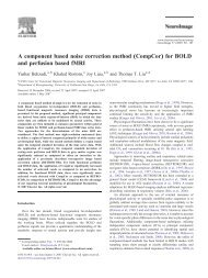 A component based noise correction method (CompCor) - Center for ...