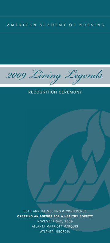 2009 Living Legends - American Academy of Nursing