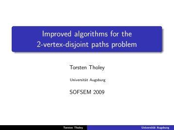 Improved algorithms for the 2-vertex-disjoint paths problem