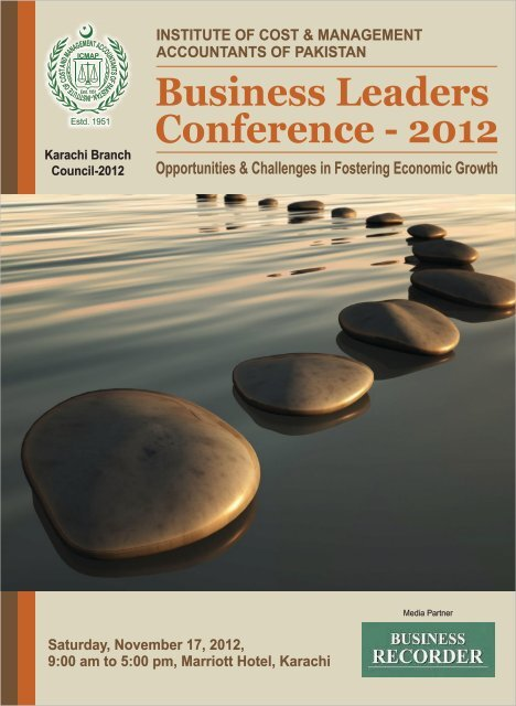 Business Leaders Conference - 2012 - Institute of Cost and ...