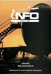 INFO nr 3_2001.pdf - Norsk Flytekniker Organisasjon