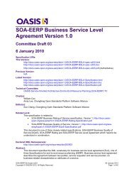 SOA-EERP Business Service Level Agreement Version 1.0.
