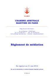 Règlement de Conciliation & médiation En vigueur a - Chambre ...