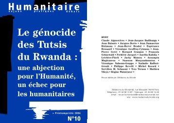Humanitaire Le génocide des Tutsis du Rwanda - Médecins du Monde