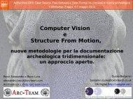 Structure from Motion - Laboratorio di Archeologia Digitale