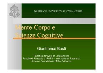 Mente-Corpo e Scienze Cognitive Mente-Corpo e Scienze ... - STOQ