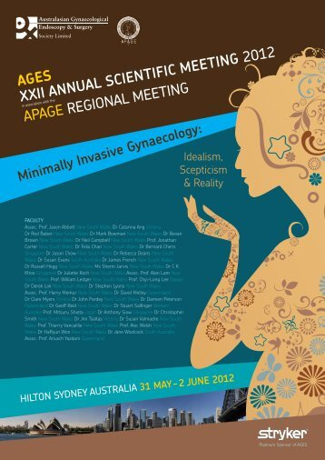 AGES XXII ANNUAL SCIENTIFIC MEETING 2012 APAGE ...