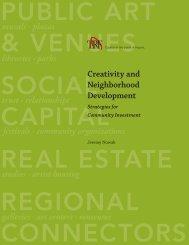 Creativity and Neighborhood Development - University of ...