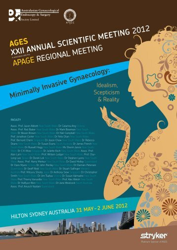 AGES XXii AnnUAl sciEnTiFic MEETing 2012 APAGE REGIONAL ...