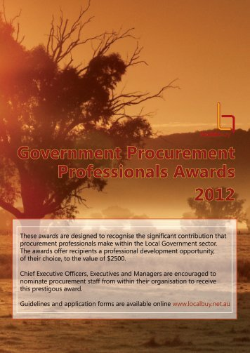 Government Procurement Professionals Awards 2012 - Local Buy