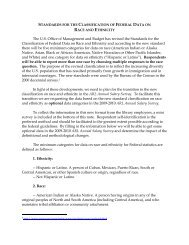 Revisions to the Standards for the Classification of Federal Data on ...