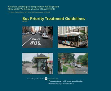 Draft Bus Priority Treatment Guidelines - Metropolitan Washington ...