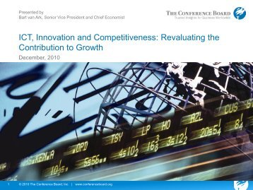 ICT, Innovation and Competitiveness: Revaluating the ... - OECD