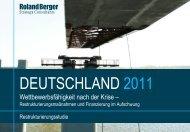 Deutschland 2011 - Restrukturierungsstudie (PDF ... - Roland Berger