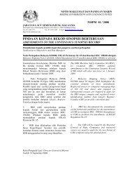 pindaan kepada rekod sinopsis berterusan - Jabatan Laut Malaysia