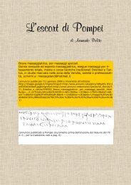 L'escort di Pompei - Vesuvioweb