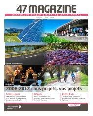 2008-2012 : nos projets, vos projets - Lot-et-Garonne