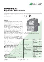 SINEAX DME 424/442 Programmable Multi ... - Power LabSolutions