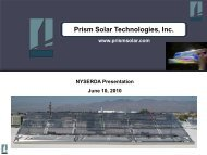 Prism Solar Technologies, Inc. - Business Incubator Association of ...