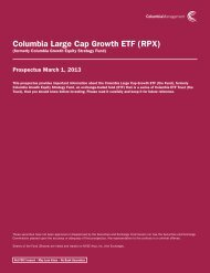 formerly Columbia Growth Equity Strategy Fund