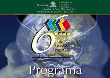 soyprograma fel 2010 - Foro de Estudios en Lenguas Internacional ...